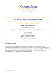 Activities Affected by Symptoms