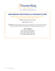 Anniversary Reactions to a Traumatic Event