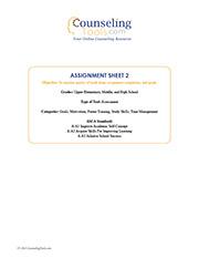 Assignment Sheet 2