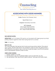 Associating with Good Manners