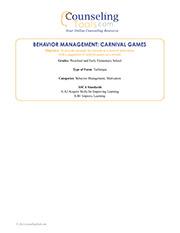 Behavior Management: Carnival Games