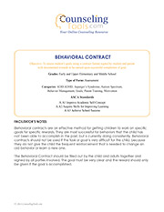 Behavioral Contract: Elementary & Middle School