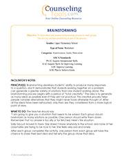 Brainstorming: Upper Elementary School