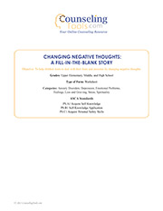 Changing Negative Thoughts: A Fill-in-the-Blank Story