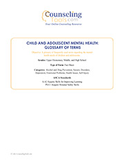 Child and Adolescent Mental Health: Glossary of Terms