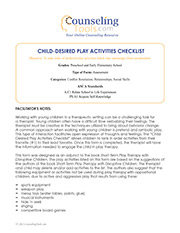 Child-Desired Play Activities Checklist