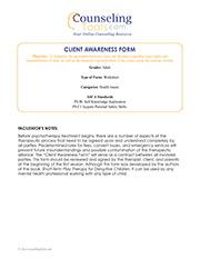 Client Awareness Form