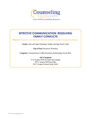 Effective Communication: Resolving Family Conflicts