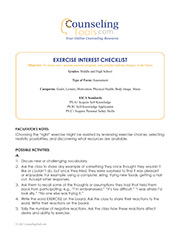 Exercise Interest Checklist