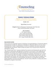 Family Goals Form