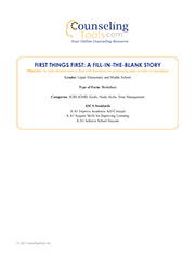 First Things First: A Fill-in-the-Blank Story