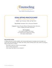 Goal Setting Practice Sheet