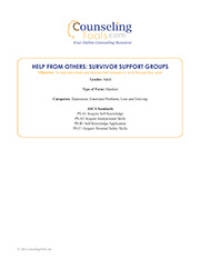 Help from Others: Survivor Support Groups