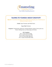 Talking to Yourself about Creativity