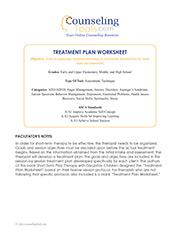 Treatment Plan Worksheet