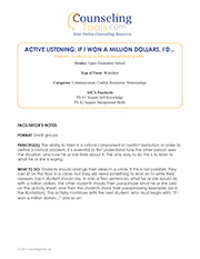 Active Listening: If I Won A Million Dollars, I'd…