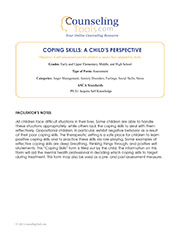 Coping Skills: A Child's Perspective