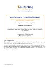 Anxiety Relapse Prevention Contract