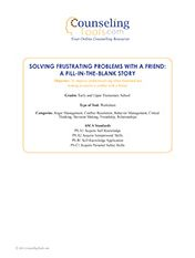Solving Frustrating Probelms with a Friend: A FILL-in-the-Blank Story