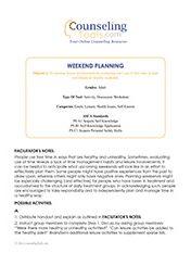 Weekend Planning