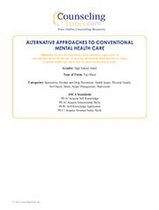 Alternative Approaches to Conventional Mental Health Care