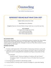 Depressed? Feeling Blue? What Can I Do?